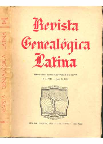 Revista Genealógica Latina - Volume XIII