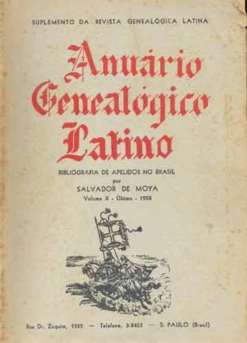 Anuário Genealógico Latino - Volume X - Último