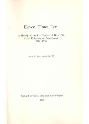 Eleven Times Ten