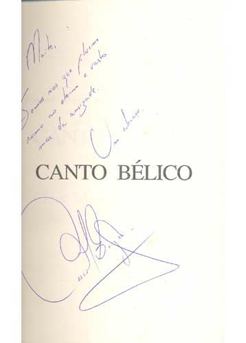 Canto Bélico - Com Dedicatória do Autor