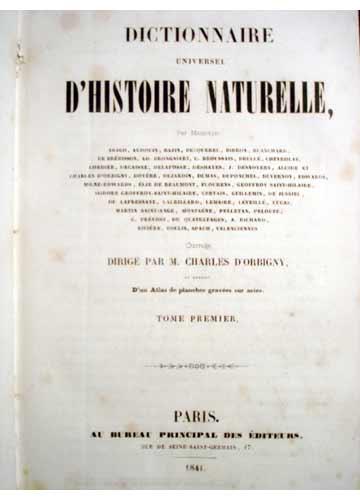 Dictionnaire Universel D'Histoire Naturelle - 13 Volumes