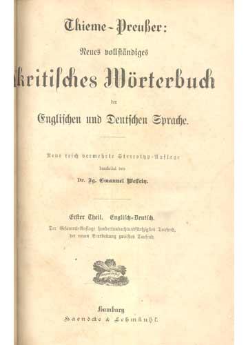 Thieme-Preusser - Dictionary