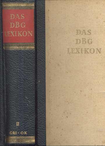 Das DBG Lexikon - Zweiter Band - Gro-Ok