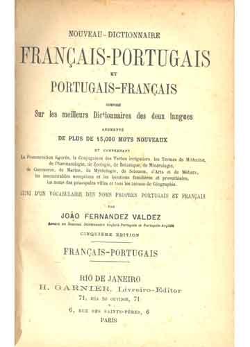 Nouveau Dictionnaire Français-Portugais et Portugais-Français