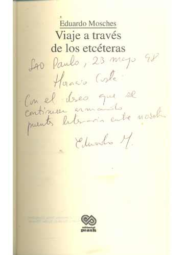 Viaje a Través de Los Etcéteras - Com Dedicatória do Autor