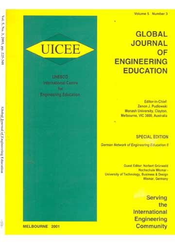 Global Journal of Engineering Education - Volume 5 - Número 3