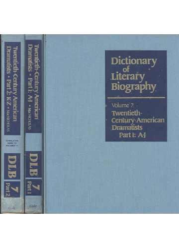 Twentieth-Century American Dramatists - 2 Volumes