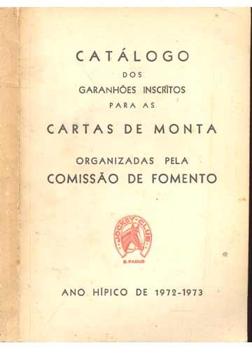 Catálogo dos Garanhões Inscritos para as Cartas de Monta