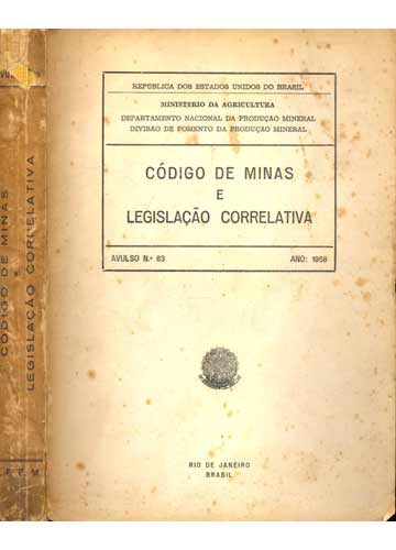 Código de Minas e Legislação Correlativa