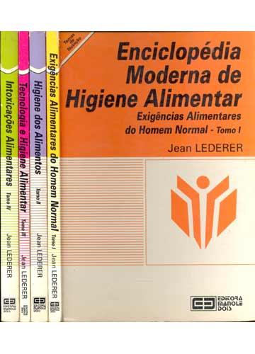 Enciclopédia Moderna de Higiene Alimentar - 4 Volumes