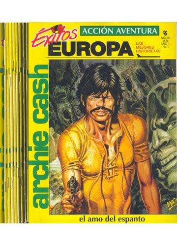 Coleção Exitos Europa - Archie Cash - Do Nº.1 ao Nº.10 - Faltando o Nº.9