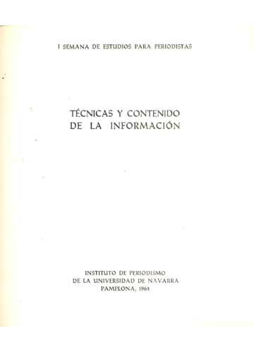 Técnicas y Contenido de la Información