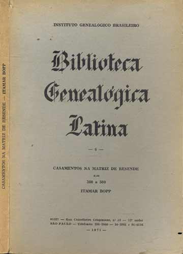 Biblioteca Genealógica Latina - Volume 6
