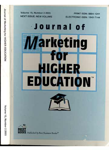 Journal of Marketing for Higher Education - Volume 15 - Number 2
