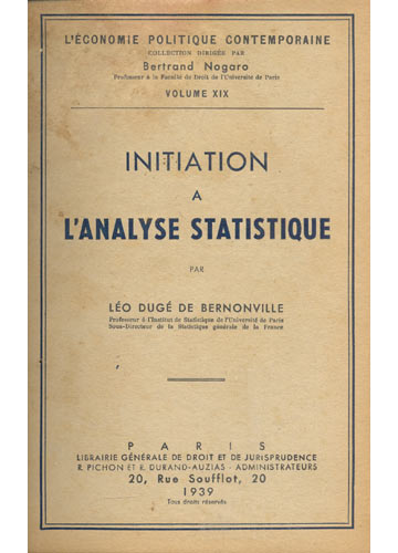 Initiation a L'Analyse Statistique