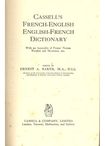 Cassell´s French Dictionary - French / English - English / French