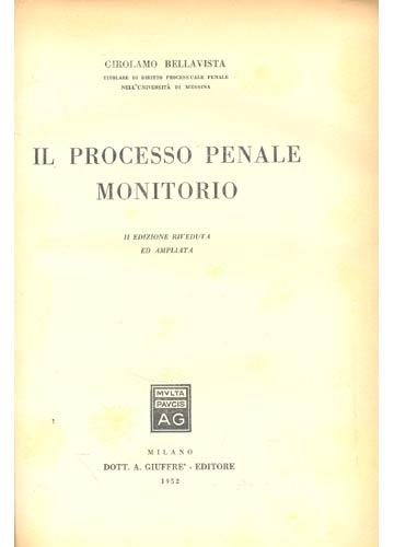 Il Processo Penale Monitorio