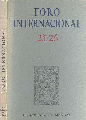 Foro Internacional - 25-26