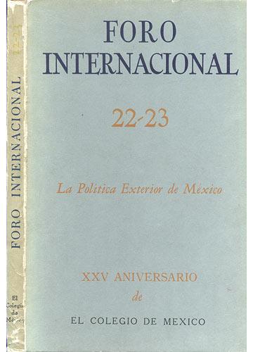 Foro Internacional - 22-23