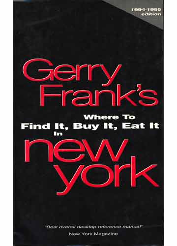 Where to Find it Buy it Eat it in New York