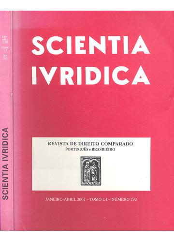 Scientia Juridica - Janeiro-Abril 2002 - Tomo LI - Número 292