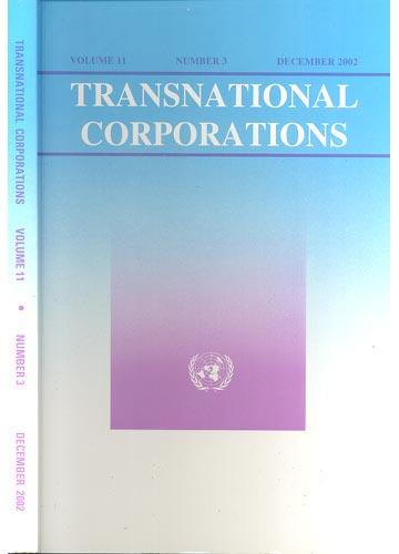 Transnational Corporations - Volume 11 - Number 3 - December 2002