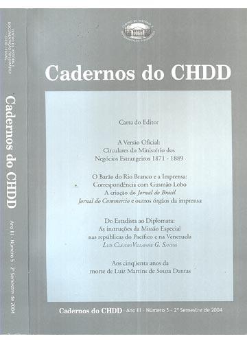 Cadernos do CHDD - Ano III - Número 5 - 2º Semestre de 2004