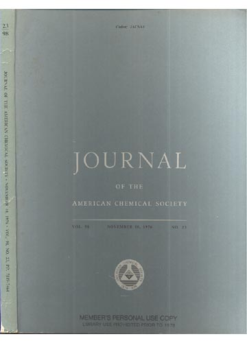 Journal Of The American Chemical Society - November 10, 1976 - Vol. 98, No 23