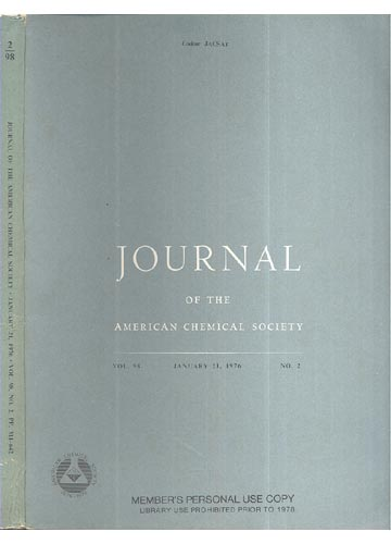 Journal Of The American Chemical Society - January 21, 1976 - Vol. 98, No. 2