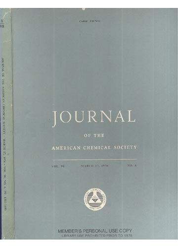 Journal Of The American Chemical Society - March 17, 1976 - Vol. 98, No. 6