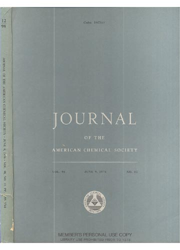 Journal Of The American Chemical Society - June 9, 1976 - Vol. 98, No. 12
