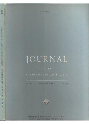Journal Of The American Chemical Society - September 28, 1977 - Vol. 99, No. 20