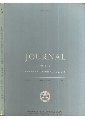 Journal Of The American Chemical Society - March 3, 1976 - Vol. 98, No. 5