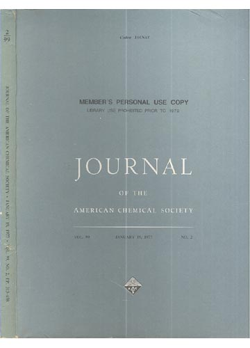 Journal Of The American Chemical Society - January 19, 1977 - Vol. 99, No. 2