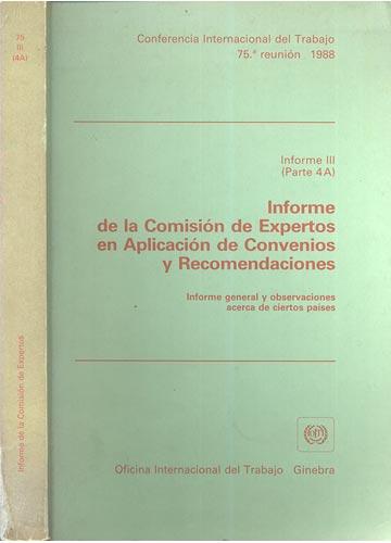 Informe de la Comisión de Expertos en Aplicación de Convenios y Recomendaciones