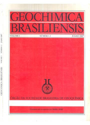 Geochimica Brasiliensis - Volume I - Número 2 - Julho 1987