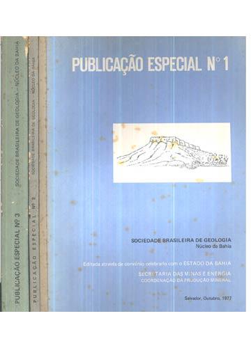 Sociedade Brasileira de Geologia - Núcleo da Bahia -  3 Volumes
