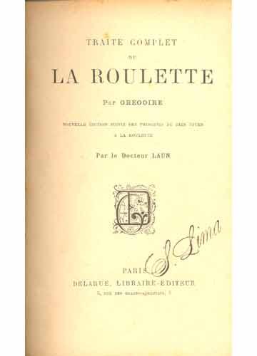 Traité de la Roulette