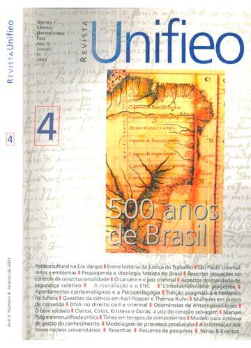Revista Unifieo - Ano 4 / Número 4 - Janeiro de 2001