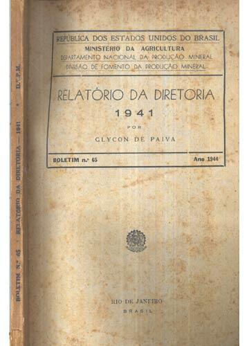 Relatório da Diretoria - 1941