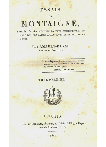 Essais de Montaigne - 6 Volumes