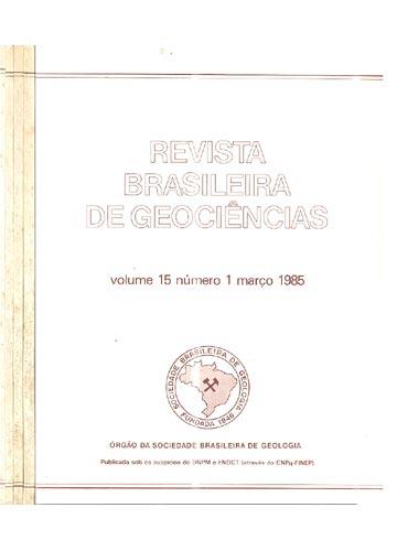 Revista Brasileira de Geociências - Volume 15 - Números 1 - 2 - 3 e 4 / 4 Números em 4 Tomos