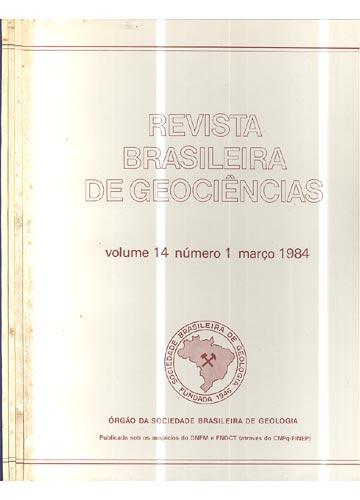 Revista Brasileira de Geociências - Volume 14 - Números 1 - 2 - 3 e 4  / 4 Números em 4 Tomos