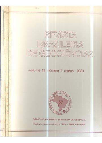 Revista Brasileira de Geociências - Volume 11 - 4 Números em 4 Tomos
