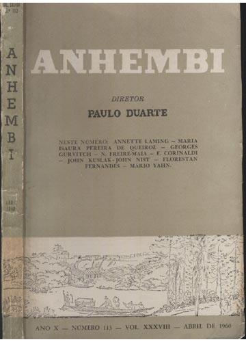 Anhembi - Nº 113 - Volume XXXVIII