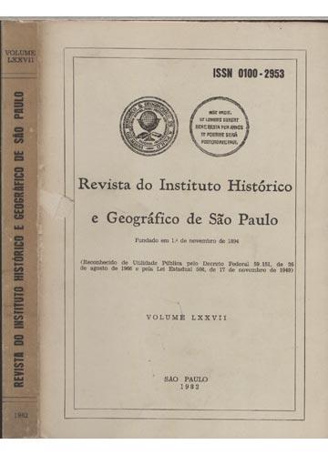 Revista do Instituto Histórico e Geográfico de São Paulo - Volume 77