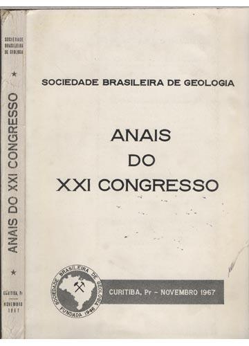 Anais do XXI Congresso - Sociedade Brasileira de Geologia