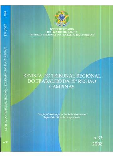 Revista do Tribunal Regional do Trabalho da 15ª Região - Nº.33