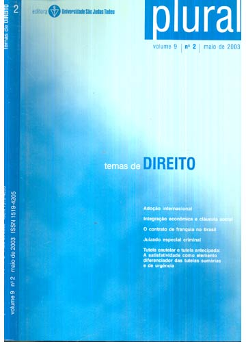 Plural - Volume 9 - Nº.02 - Maio de 2003