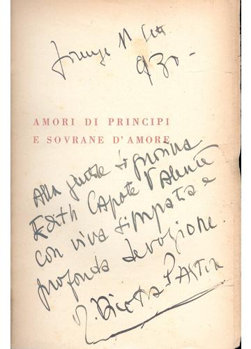 Amori di Principi e Sovrane d'Amore - Com Dedicatória do Autor para Capote Valente